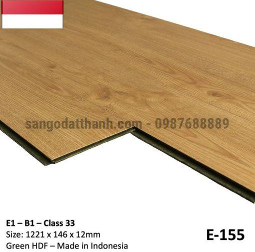 Sàn gỗ công nghiệp indo 12mm cốt xanh 12