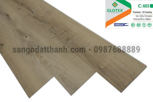 Sàn nhựa Glotex 6mm 8